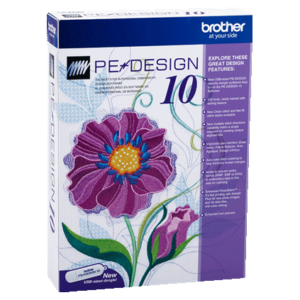 Brother PE-DESIGN 10 Embroidery Design and Digitizing Software